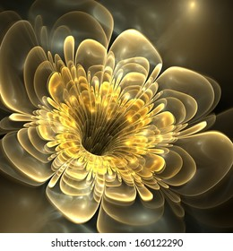 Abstract floral fractal background
