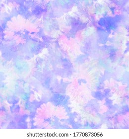 Abstract Floral Pastel Tie Dye Print