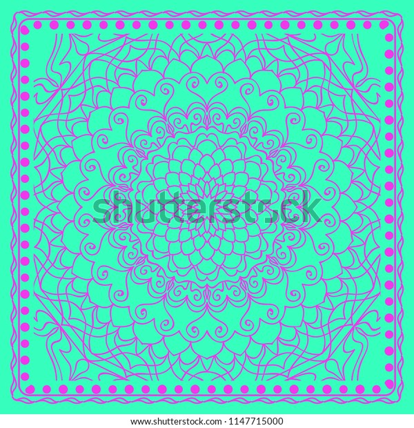 Abstract floral pattern. geometry, mandala design.   illustration. for invitation, bridal, wedding, wallpaper