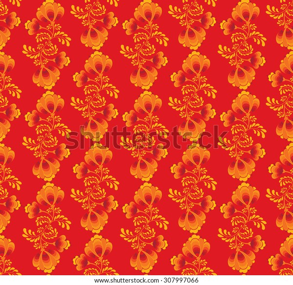 Abstract floral pattern in vintage oriental style.