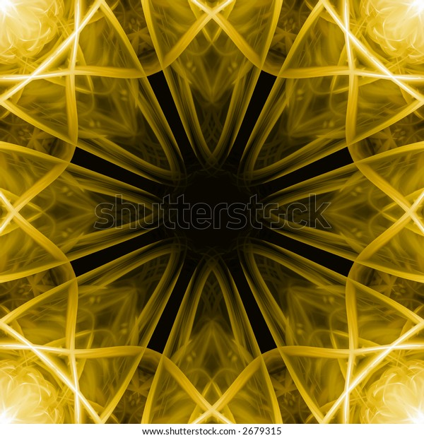 Abstract Floral Tile