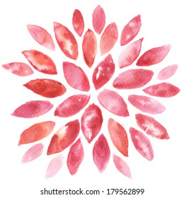 Abstract floral watercolor paintings