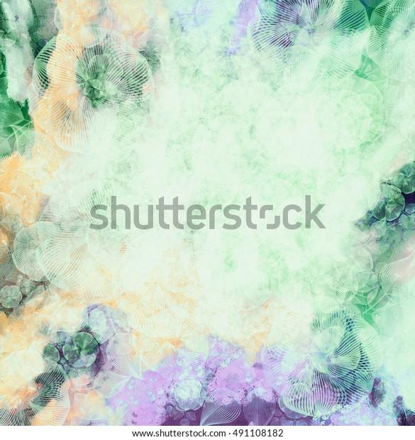 abstract-flower-background-orangegreen-g