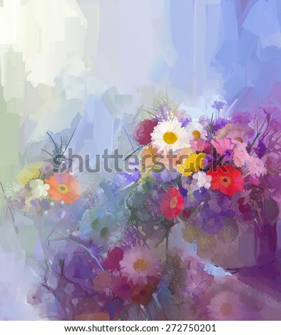 Abstract Flower Painting Vase Still Lift Bouquet Stock Illustration on abstract oil painting, abstract heart art painting, abstract art paintings by famous artist, sunflower paintings vase, abstract ceramic vases, claude monet flower vase, abstract tulip paintings, pencil drawing still life flowers in a vase, abstract paintings of flowers, abstract art paintings flowers, folk art flower vase, abstract drawings of flowers,