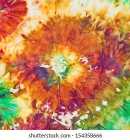 abstract flower pattern of nodular painted batik
