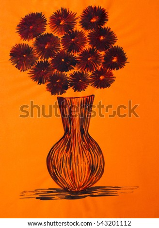 Royalty Free Stock Illustration Of Abstract Flower Vase Decoration