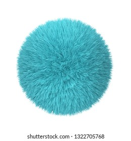 Abstract fluffy ball. 3d illustration isolated on white background