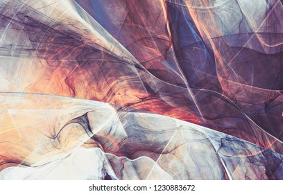 Abstract fluid soft color artistic pattern. Liquid ink. Bright abstract background. Trendy painting texture. Fractal artwork for creative graphic design