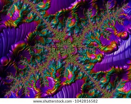Rainbowpearlescent Glow WallpaperDigital Geometry OrnamentExplosion Of