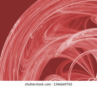 Abstract fractal background toned in red color