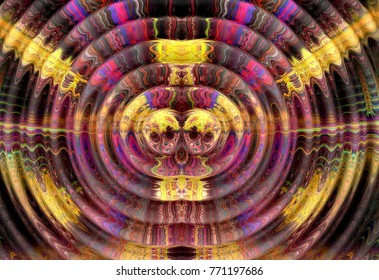 Abstract fractal computer generated   lmage, rendering,  Wavy fractal.