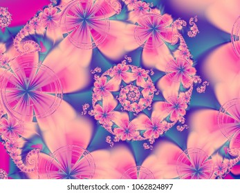 Abstract fractal floral