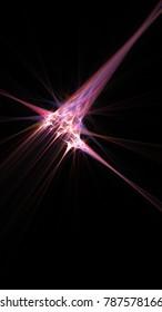 Abstract fractal light arrow, cellphone wallpaper