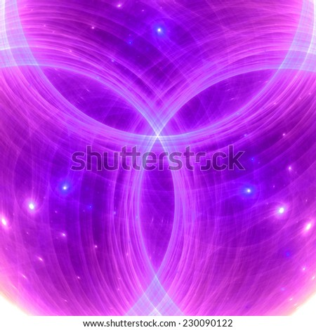 Abstract Fractal Light Glowing Pink Purple Stock Illustration