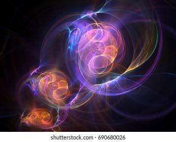 Abstract fractal light patterns