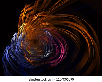 Abstract Fractal Metallic Swirl Background - Fractal Art