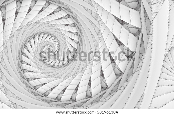 Abstract fractal patterns and shapes