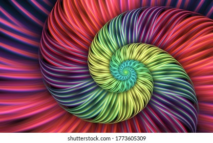 Abstract fractal patterns and shapes. Infinite universe..Mysterious psychedelic relaxation pattern. Dynamic flowing natural forms. Sacred geometry.Mystical spirals.