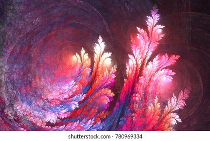 Abstract fractal patterns and shapes. Infinite universe.Mysterious psychedelic relaxation pattern.