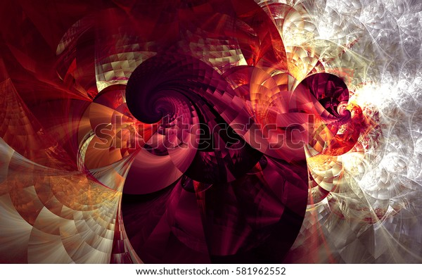 Abstract fractal patterns and shapes. lines and spirals