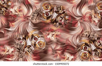 Abstract fractal patterns and shapes. and spirals