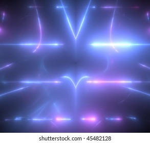 abstract fractal rendering resembling neon lights