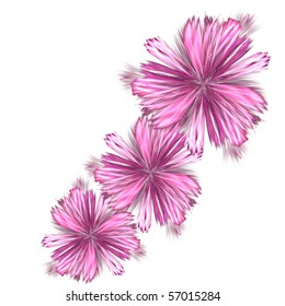 abstract fractal rendering resembling spring flowers