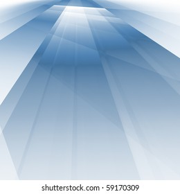 abstract fractal rendering of soft blue shadows