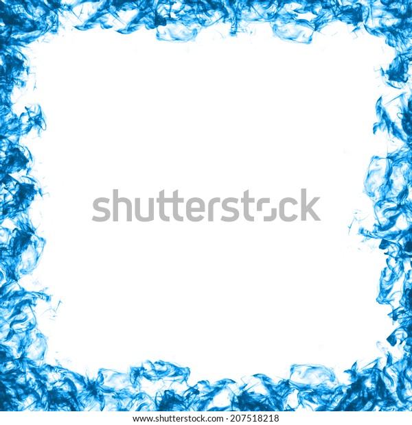 Abstract Frame Blue Smoke Stock Illustration 207518218