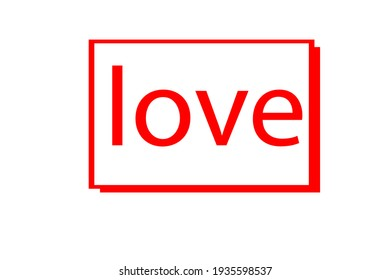 A abstract frame love art design and white background