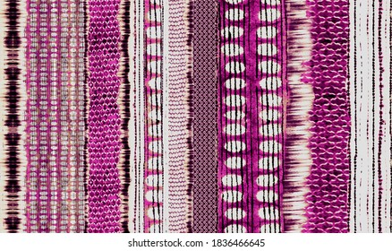 abstract fuchsia colorful ethnic border pattern