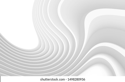 Abstract Futuristic Background. Circular Wave Design. 3d Rendering