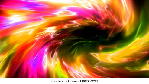 Сolorful abstract futuristic burst in space
