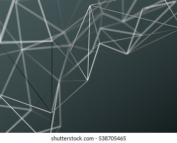 Abstract futuristic chaotic structure. 3d rendering