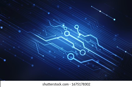 Abstract futuristic circuit board Illustration, high computer technology background. Hi-tech digital technology concept. Digital Abstract technology background