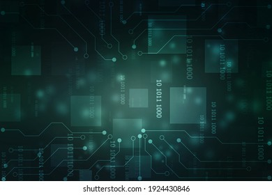 Abstract futuristic circuit board Illustration high computer technology background. Hi-tech digital technology concept.Circuit board pattern for technology background