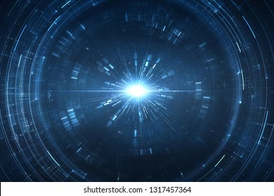 Abstract futuristic science fiction time and space travel cosmic background