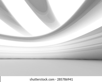 Abstract Futuristic White Geometric Background. 3d Render Illustration
