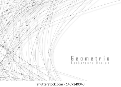 Abstract geometric background design on white
