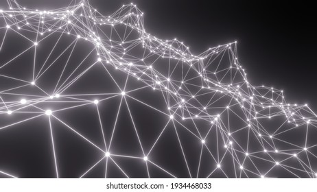 abstract geometric background with glow triangles