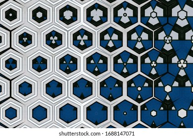abstract geometric background with graphic art elements