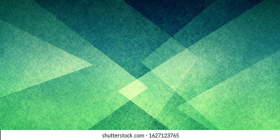 Abstract geometric background in green with texture, layers of triangle shapes in modern art style background design