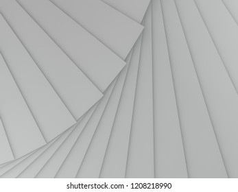 Abstract geometric background of the shape. 3D rendering