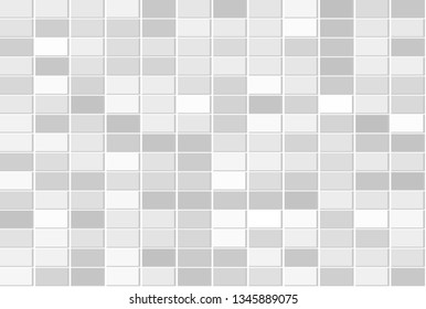 Abstract geometric background and texture. Modern mosaic tiles color shade stack on the wall.
