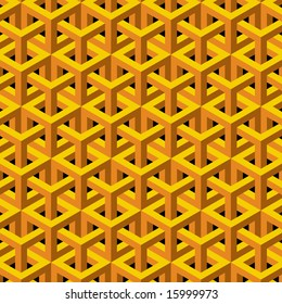 Abstract geometric background in yellow and orange.