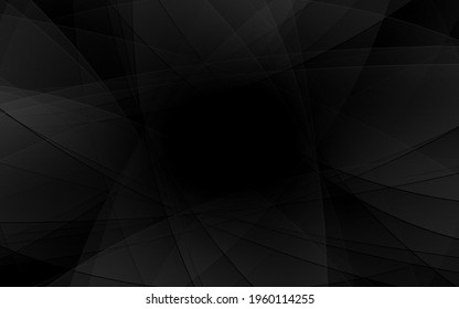 Abstract geometric black and gray curve line gradient texture background. with space for concept design Technology and modern.