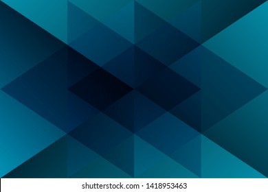 Abstract geometric blue cyan color background