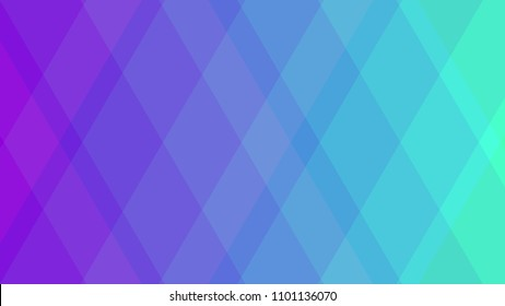 Abstract geometric colorful background with rhombus from purple to green