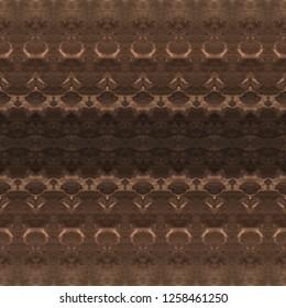 abstract geometric dark brown watercolor seamless pattern