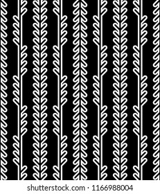 Abstract geometric herringbone pattern. Classic monoline fishbone background in black and grey colors. Backdrop with vertical arrow-like stripes. Raster seamless repeat.